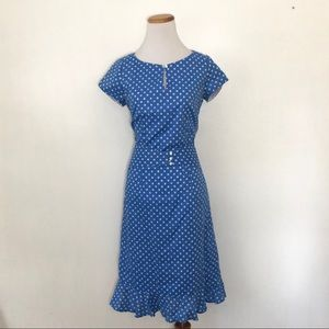 Vintage 80s does 40s Printed House Dress Medium